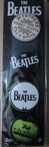 Beatles Logos  strip of  4 x 30mm round Pin Badges (cv)